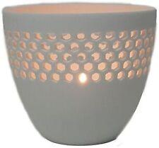 White Mina Ceramic Votive and Tealight Holder
