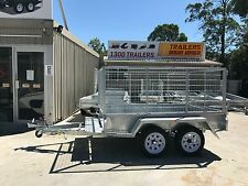 8x5 DUAL AXLE -3FT CAGE AUSSIE MADE & GALVANIZED! - NEW WHEELS&TYRES