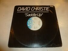 "DAVID CHRISTIE - Saddle Up - 1982 UK 12"" vinyl single"