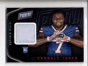 CARDALE JONES 2016 PANINI THE NATIONAL ROOKIE USED WORN GLOVE RELIC RC AB7531