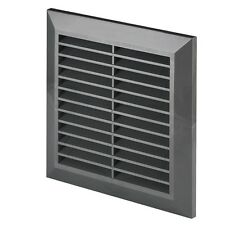 """Graphite Air Vent Grille 170mm x 170mm Ducting Ventilation Cover 6.7"""" Grid T40GR"""