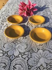FIESTA 4 NEW MARIGOLD golden yellow 6-1/4 oz FRUIT BOWLS DESSERT BOWL Fiestaware