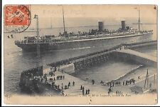 """Liner """" La Provence"""" at Le Havre, 1906 PPC Solent Cliff, Bournemouth"""