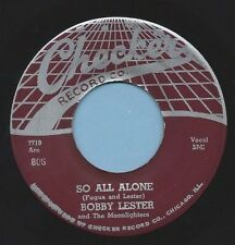 """Bobby Lester & Moonlighters-Checker 806 """"SO ALL ALONE""""  MAKE OFFER"""