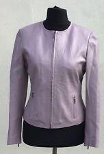 Principles Pink Leather Jacket Size10