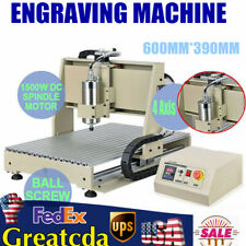 4 Axis Usb 6040 Cnc Router Engraver Metal Drill Milling Machine 3d Cutter 15kw