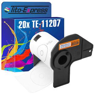 20x Etikett für Brother P-Touch DK-11207 58x58mm QL 1050 QL 1050 N QL 1060 N