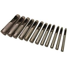 12pc joint creux Ceinture perforation cuir canevas plastique Papier de trou