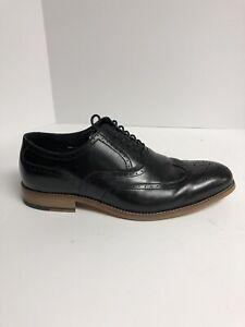 Stacy Adam Dunbar Wingtip Oxford Mens Dress Shoe Black 9.5 Wide WB