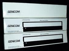 GENICOM LA 700 x 3 off LA70R-KL BLACK RIBBONS LA500 LA700 &+ COMPAQ GENUINE