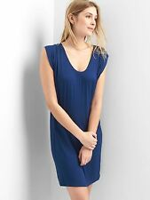 GAP Drapey sleeveless scoop-neck dress, Pangea Blue SIZE MT M T   #723396 v617
