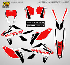 MX Graphics Stickers Kit Decals GasGas EC 200 250 300 450 2014-2017