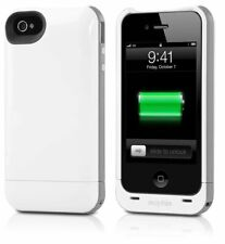 GENUINE Mophie Juice Pack Plus Battery Case for Apple iPhone 4 4S White 2000mAh