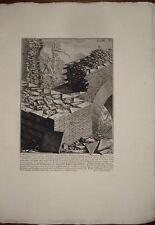 Piranesi stampa antica Mattoni Ustrino Appia Roma old print kupferstich 1756