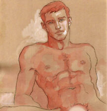 ORIGINAL MALE NUDE solluble sanguine - MARCUS - by GERMANIA