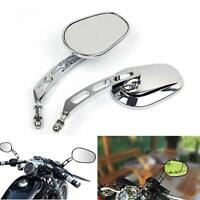 Chrome Motorcycle Mirrors For Harley Davidson Heritage Softail FLHTC Classic WY