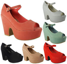 Buckle High Heel (3-4.5 in.) Wedge Synthetic Boots for Women
