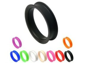 30 - 38mm Silicone Ear Tunnel ~ Various Colours ~ Stretched Ear Piercing