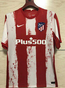 Newest Atletico Madrid FC Home Shirt 2021/22 Football Jersey for Men Adult Size