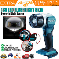 Makita DML808 18V Li-ion LXT Cordless LED Torch Flashlight Skin Only Zoomable