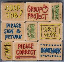Hero Arts SCHOOL TEACHER 9 STAMPS Wood Mounted Stamps LL251