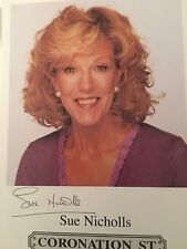 Pre Print Autograph Sue Nicholls Coronation Street (2 )