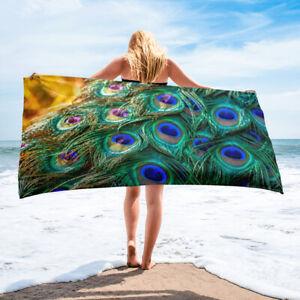 Peacock Feathers Bath or Beach Towel