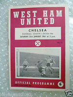 1961 WEST HAM UNITED v CHELSEA, 21st Jan (League Division One)