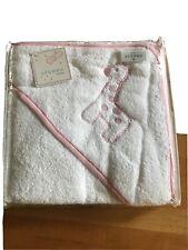 Sferra Hooded Pink Giraffe Baby Towel NIP