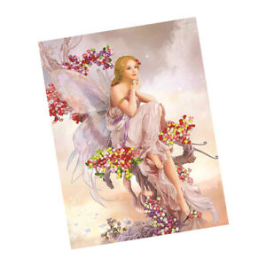 Fashion Pattern Stamped Cross Stitch Kit Ribbon Embroidery Set for Beginner