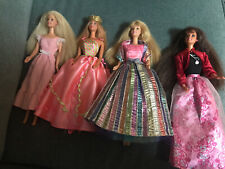 Lot Of 4 Barbies From The 90s Plus Vintage Clothing