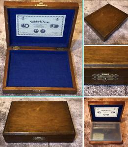 Vintage Wooden Gun Case Webley & Scott Junior Air Pistol Diana BSA Daisy BOX