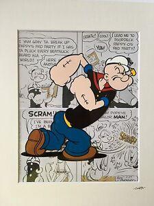 Popeye - Hand Drawn & Hand Painted Cel