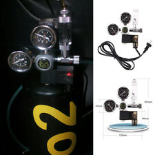Dual Gauge CO2 Pressure Regulator Bubble Counter Solenoid Valve Aquarium System