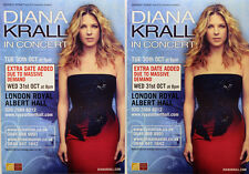 2 X DIANA KRALL LONDON ROYAL ALBERT HALL CONCERT FLYERS