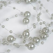 PEARLS STRAND mix of 3 & 7 mm FAUX GARLAND WEDDING TABLE PARTY DECORATION