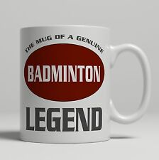 Badminton player gift shuttle cock bashing ceramic mug tea coffee cup novelty