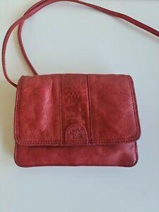 Nuvola Vera Pelle Red Leather Bag Boho Festival