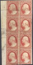 U.S. 11 Mint FVF Sheet Mgn Blk/8 RARE (1124)