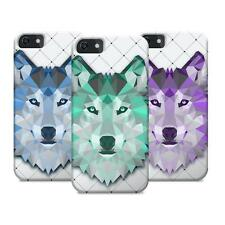 3D Slim Case Triangle Abstract Wolf Animal Designr Matte for iPhone 5S 5C 6 Plus