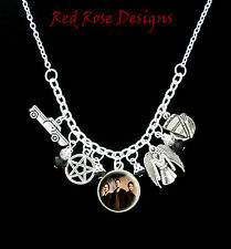~SUPERNATURAL THEMED STATEMENT CHARM NECKLACE~