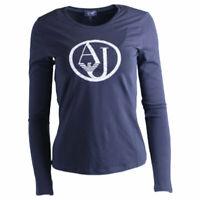 ARMANI JEANS 7V5T04 5J00Z 0543 Womens T-Shirt Crew Neck Long Sleeve Casual Tee
