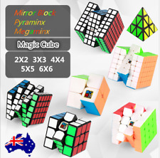 New Rubix Rubik Puzzle Smooth Speed Magic Cube Mirror Pyraminx 2x2/3x3/4X4/5X5
