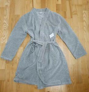 Calvin Klein Grey short-midi womens Bathrobe size XS-S RRP£95