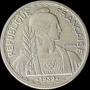 1939 French Indo-China 20 Cents - SCARCE