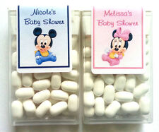 14 BABY MICKEY MINNIE BABY SHOWER FAVORS TIC TAC LABELS ~ PERSONALIZED