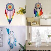 Dream Catcher Feathers Lace Handmade Dreamcatcher Net Home Car Wedding Decor