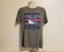 NHL CCM New York Rangers Stanley Cup Playoffs Adult Large Gray T-Shirt