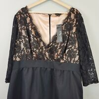 [ CITY CHIC ] Womens Black Lace Dress NEW $159.95 | Size XL or AU 22 / US 18