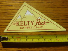 KELTY Tents Kid Carriers STICKER Decal VINTAGE LOGO